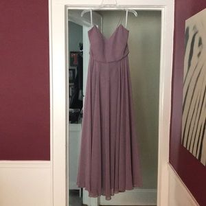Jenny Yoo Collection mauve prom/bridesmaid gown